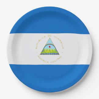 Bandera: Nicaragua Platos De Papel