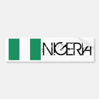 Bandera nigeriana pegatina para auto