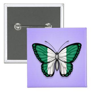 Bandera nigeriana de la mariposa en púrpura pins