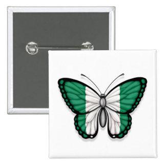 Bandera nigeriana de la mariposa pins