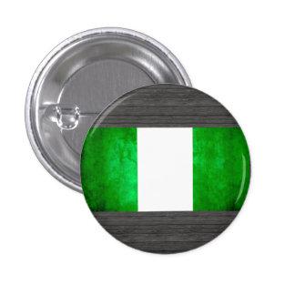 Bandera nigeriana del contraste colorido pins