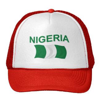 Bandera nigeriana gorros bordados