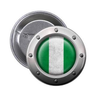 Bandera nigeriana industrial con el gráfico de ace
