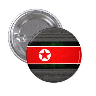Bandera norcoreana nerviosa moderna pins