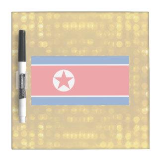 Bandera norcoreana oficial pizarras blancas de calidad