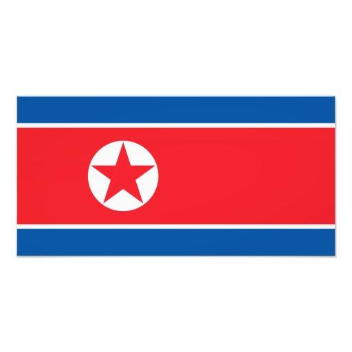Bandera norcoreana fotografía