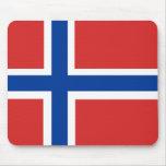 Bandera noruega alfombrilla de raton