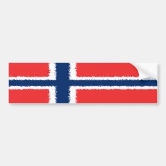 Bandera noruega pegatina de parachoque