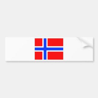 Bandera noruega pegatina para auto
