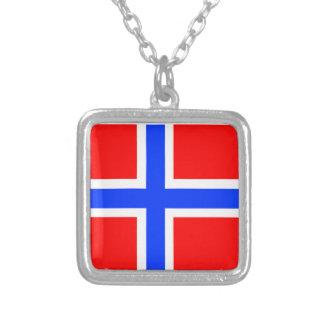 Bandera noruega colgante cuadrado