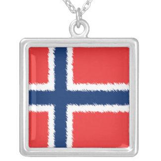 Bandera noruega pendientes personalizados