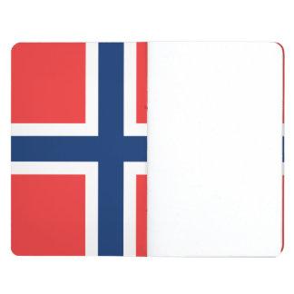 Bandera noruega cuaderno grapado