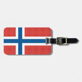 Bandera noruega etiqueta para equipaje