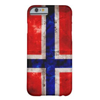 Bandera noruega funda para iPhone 6 barely there