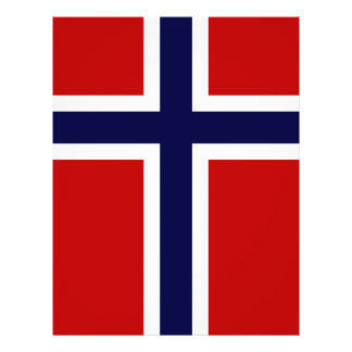 "Bandera noruega - Kongeriket Norge - Norsk Flagg Folleto 8.5"" X 11"""