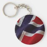 Bandera noruega llaveros personalizados