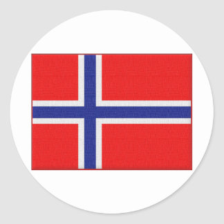 Bandera noruega pegatina redonda