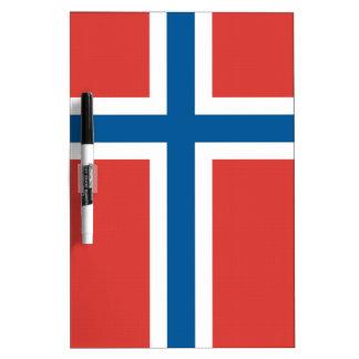 Bandera noruega pizarra