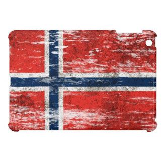 Bandera noruega rascada y llevada