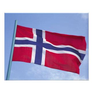 Bandera noruega RF) Fotografía