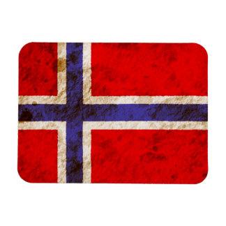 Bandera noruega rugosa iman flexible