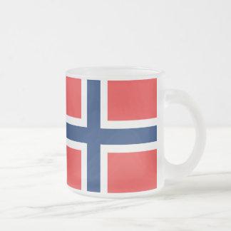 Bandera noruega taza de cristal