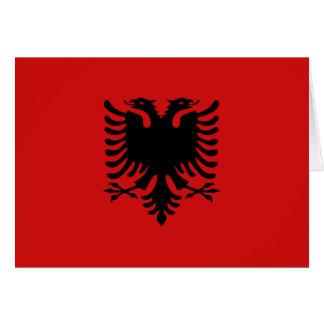 Bandera Notecard de Albania Tarjeta Pequeña