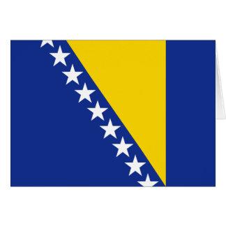 Bandera Notecard de Bosnia y Hercegovina Tarjeta Pequeña