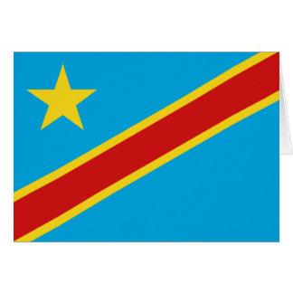 Bandera Notecard de Congo-Kinshasa Tarjeta Pequeña