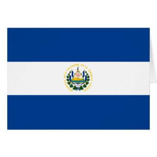 Bandera Notecard de El Salvador Tarjeta Pequeña