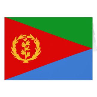 Bandera Notecard de Eritrea Tarjeta Pequeña