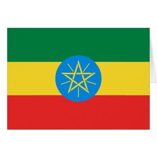Bandera Notecard de Etiopía Tarjeta Pequeña