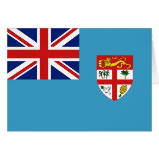 Bandera Notecard de Fiji Tarjeta Pequeña
