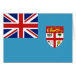 Bandera Notecard de Fiji Tarjeton