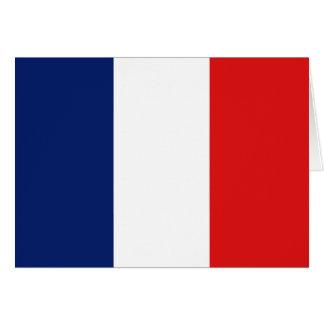 Bandera Notecard de Francia Felicitación