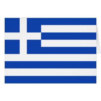 Bandera Notecard de Grecia Tarjeton
