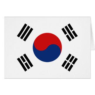 Bandera Notecard de la Corea del Sur Tarjeta Pequeña