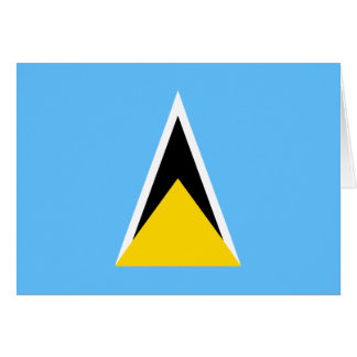Bandera Notecard de la Santa Lucía Tarjeta Pequeña