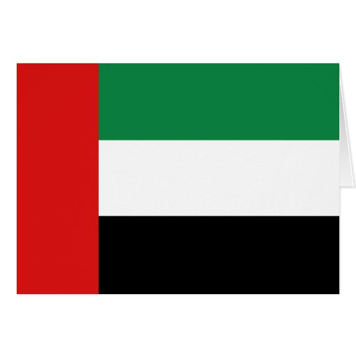 Bandera Notecard de los UAE Tarjeta Pequeña