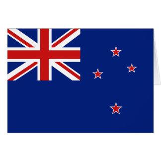 Bandera Notecard de Nueva Zelanda Tarjeta