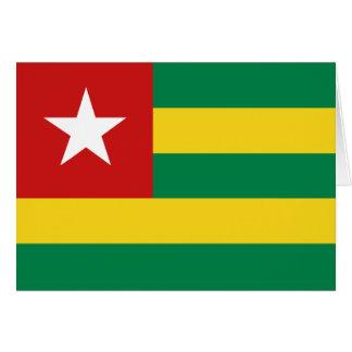 Bandera Notecard de Togo Tarjeta Pequeña