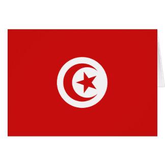Bandera Notecard de Túnez Tarjeta Pequeña