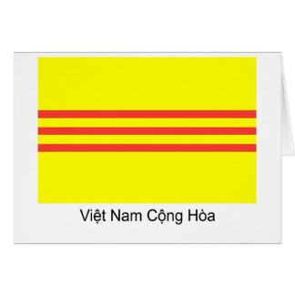 Bandera Notecard de VNCH Tarjeta De Felicitación