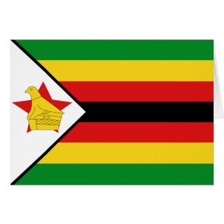 Bandera Notecard de Zimbabwe Tarjeta Pequeña