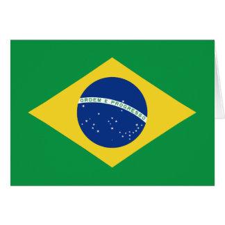 Bandera Notecard del Brasil Tarjeta Pequeña