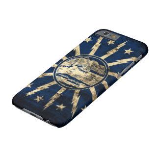 Bandera Nueva York del búfalo del Grunge del Funda De iPhone 6 Barely There