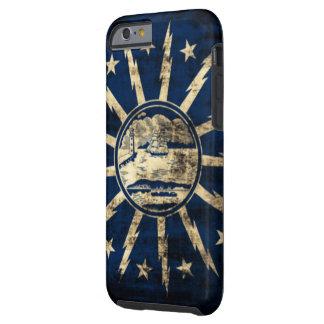 Bandera Nueva York del búfalo del Grunge del Funda Para iPhone 6 Tough
