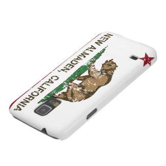 Bandera nuevo Almaden de la república de Californi Fundas De Galaxy S5