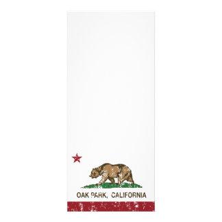 Bandera Oak Park de la república de California Invitacion Personal