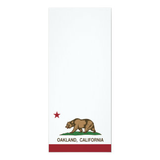 """bandera Oakland de California Invitación 4"""" X 9.25"""""""